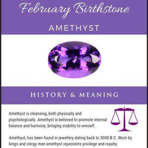 Amethyst is February's Birthstone